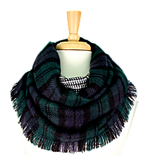 Green Plaid Infinity Scarf #EASC8164-GN