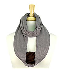 Brown Striped Infinity Scarf #EASC8173-BR