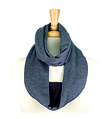 Navy Striped Infinity Scarf #EASC8173-NV