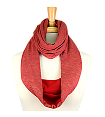 Red Striped Infinity Scarf #EASC8173-RD