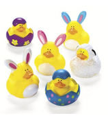 One Dozen Easter Rubber Duckies #37/451-SHIPS ASSORTED
