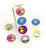 Easter Bunny and Chick Roll Stickers #37/856