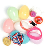 2 Dozen Pastel Toy-Filled Easter Eggs #37/48