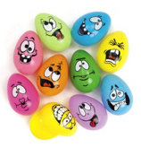Set of 10 Crazy Face Easter Eggs #37/983