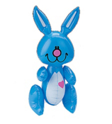 One Dozen Inflatable Bunnies #49/177-Ships Assorted