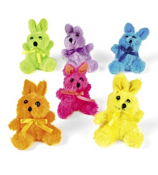 One Dozen Plush Neon Bunnies #6/1141-SHIPS ASSORTED