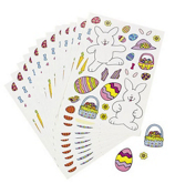 12 Sheets of Make-An-Easter Bunny Stickers #37/116