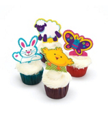 24 Easter Character Cupcake Picks #37/990