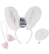 Six 3-Piece Bunny Costume Accessories Set #85/2196