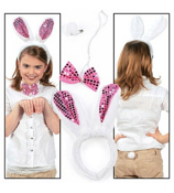 One 3-Piece Plush Bunny Costume Set #37/9