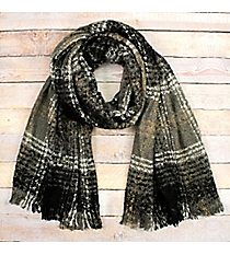 Keep Me Cozy Scarf, Black #EASW8425-BK