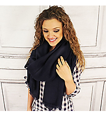 Winter Warmth Navy Blanket Scarf #EASW8488-NV