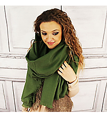 Winter Warmth Olive Blanket Scarf #EASW8488-OL