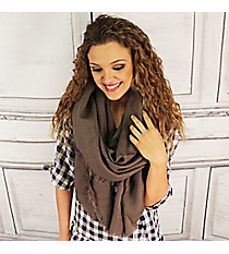 Winter Warmth Taupe Blanket Scarf #EASW8488-TP