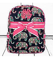 Preppy Ellie Quilted Backpack with Hot Pink Trim #ELE2828-HPINK