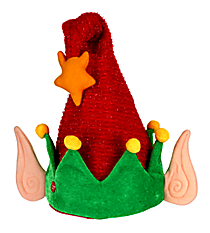 Red Wavy Stripes Musical Motion Elf Hat #81133-RED
