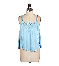 Light Blue Crochet Cami #EM1582-LTBLUE *Choose Your Size