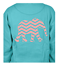 Chevron Elephant Ladies Relaxed Fit Boxy Crew Sweatshirt *Choose Your Color