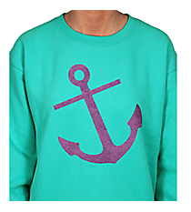 Anchor Ladies Relaxed Fit Boxy Crew Sweatshirt *Choose Your Color