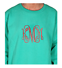 Monogrammed Ladies Relaxed Fit Boxy Crew Sweatshirt *Choose Your Color