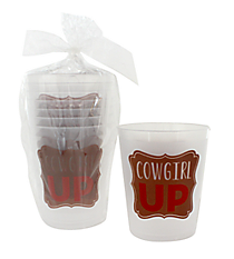 "16oz ""Cowgirl Up"" Frost Flex Cup Set #F138628"