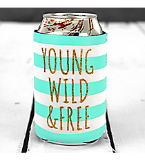 Young Wild & Free Koozie with Pocket #F150537