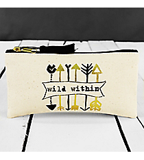 Wild Within Canvas Pouch #F155397