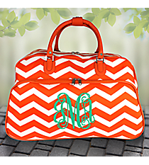 "21"" Orange and White Chevron Rolling Duffle Bag #T12022-165-OR/W"