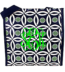 Navy and Green Full Circle Power Lunch Tote #FC-PL-000247