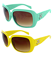 ONE PAIR OF DESIGNER LOOK SUNGLASSES #FDL2984-R