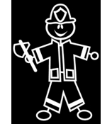 Fireman Vinyl Car Decal #SF31