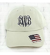 Distressed American Flag Cap #F0506
