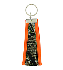 Mossy Oak with Orange Trim Wristlet Key Fob #FOB-MOO