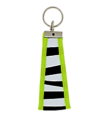 Zebra with Lime Trim Wristlet Key Fob #FOB-ZB