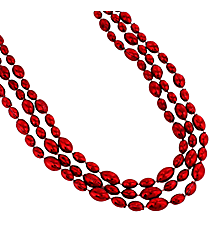 12 Red Football Bead Necklaces #24/2069