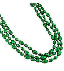 12 Green Football Bead Necklaces #24/2070