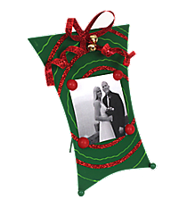 One Dark Green and Red Swirl Magnetic Present Frame #35062