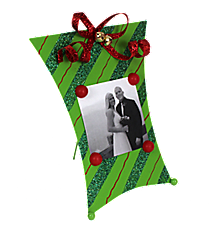 One Green Striped Magnetic Present Frame #35062