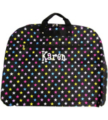 Black with Multi-Color Stars Garment Bag #GM40-588