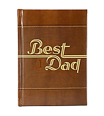 """To the Best Dad in the World"" LuxLeather Book #GB044"