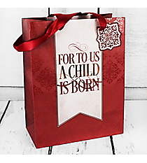 Isaiah 9:6 'A Child Is Born' Medium Gift Bag #GBA106
