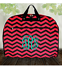 Black and Fuchsia Chevron Garment Bag #GM40-165-B/F