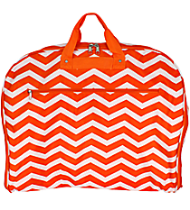 Orange and White Chevron Garment Bag #GM40-165-OR/W