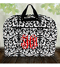 Black and White Damask Garment Bag #GM40-501-B