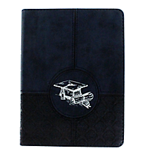 Navy Blue Graduation LuxLeather Flexcover Journal #JL149