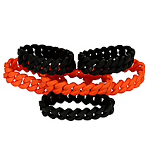 Pack of 6 Halloween Rubber Chain Bracelets #13605773