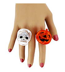 Halloween Flashing Ring #HAW-FLRNG-SHIPS ASSORTED