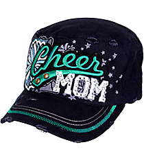 Cheer Mom Distressed Navy Cadet Cap #T21CHM01-NAVY