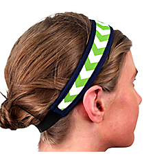 Lime and White Chevron with Navy Headband #HB-LMNV
