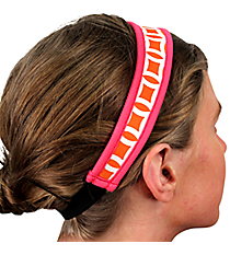 Orange and White Interlocking Circles with Pink Headband #HB-ORPK